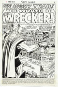 Original Comic Art:Splash Pages, Jack Kirby and Bill Everett Thor #171 Splash Page 1 OriginalArt (Marvel, 1969)....