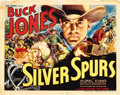 "Movie Posters:Western, Silver Spurs (Universal, 1936). Title Lobby Card (11"" X 14"")...."