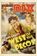 """Movie Posters:Western, West of the Pecos (RKO, 1935). One Sheet (27"""" X 41"""")...."""
