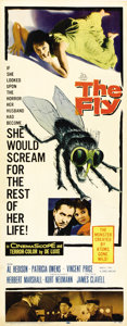 """Movie Posters:Horror, The Fly (20th Century Fox, 1958). Insert (14"""" X 36"""")...."""