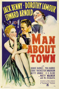 "Movie Posters:Comedy, Man About Town (Paramount, 1939). One Sheet (27"" X 41"")...."