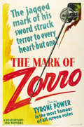 """Movie Posters:Swashbuckler, The Mark of Zorro (20th Century Fox, 1940). One Sheet (27"""" X 41"""") Style B...."""