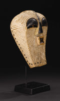 African: , Songe (Democratic Republic of Congo). Kifwebe Mask. Wood,pigment. Height: 13 inches Width: 9 ¼ inches Depth: 6 ¾ inch...