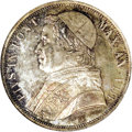 Italy:Papal States, Italy: Papal States. Pius IX Scudo 1853R Year VIII, KM1336.2, MS64NGC, a gorgeous coin with perfectly balanced patina and underlyi...