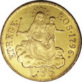Italy: , Italy: Genoa. Republic gold 96 Lire 1796, KM251.2, superb AU-UNC,fully lustrous and extremely attractive. Some faint hairlinesare...