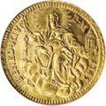 Italy:Papal States, Italy: Papal States. Benedetto XIV gold Zecchino 1745, Friedberg231, KM943, MS64 NGC, full glowing mint brilliance, exceptionalqu...