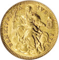 Italy:Papal States, Italy: Papal States. Benedetto XIV gold Zecchino 1750, Friedberg231, KM971, MS65 NGC, fully brilliant and highly appealing. Thisi...
