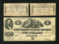 Confederate Notes:1862 Issues, T42 $2 1862. This $2 has even wear and nice edges for the grade. Itwas once mounted at back center. Included with this lot ... (Total:3 items)