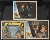 """Pittsburgh (Universal, 1942). Title Lobby Card (11"""" X 14"""") and Lobby Cards (2) (11"""" X 14""""). Drama. S..."""