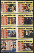 """Movie Posters:Romance, The Story of Three Loves (MGM, 1953). Lobby Card Set of 8 (11"""" X14""""). Romance. Starring Pier Angeli, Ethel Barrymore, Lesli...(Total: 8 Items)"""
