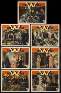 "Movie Posters:War, The W Plan (RKO, 1931). Lobby Cards (7) (11"" X 14""). War Drama.Starring Brian Aherne, Madeleine Carroll, Gib McLaughlin and...(Total: 7 Items)"