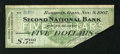 Obsoletes By State:Ohio, Hamilton, OH- Second National Bank $5 Nov. 9, 1907. This is thefirst time we have seen the $5 denomination from this Panic ...