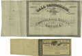Confederate Notes:Group Lots, Ball 354 Cr. 160 Undenominated Bond 1864 Fine. Ball 355 Cr. 159Undenominated Bond Fine.. Both of these bonds only exist... (Total:2 items)