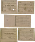 Confederate Notes:Group Lots, Ball 344a Cr. UNL $500 Call Certificate Fine-VF with full ledgerstub. Ball 345 Cr. 162B $1000 Call Certificate VF, ... (Total: 5items)
