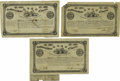 Confederate Notes:Group Lots, Ball 31; 34; 37 Cr. 49; 50; 51 $500 Bonds 1862-63. These $500 bondsgrade Fine with the Ball 34 missing an edge notch an... (Total: 3items)
