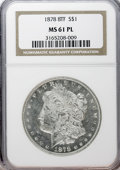 Morgan Dollars: , 1878 8TF $1 MS61 Prooflike NGC. NGC Census: (36/434). PCGSPopulation (52/536). Numismedia Wsl. Price for NGC/PCGS coin in...
