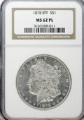 Morgan Dollars: , 1878 8TF $1 MS62 Prooflike NGC. NGC Census: (125/309). PCGSPopulation (192/344). Numismedia Wsl. Price for NGC/PCGS coin ...