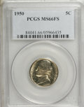 Jefferson Nickels: , 1950 5C MS66 Full Steps PCGS. PCGS Population (29/2). NGC Census:(5/2). (#84041)...