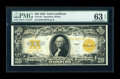 Large Size:Gold Certificates, Fr. 1187 $20 1922 Gold Certificate PMG Choice Uncirculated 63EPQ....