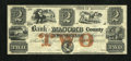 Obsoletes By State:Michigan, Mt. Clemens, MI- Bank of Macomb County $2 Apr. 1, 1858. ...