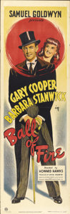 "Movie Posters:Comedy, Ball of Fire (RKO, 1941). British Door Panel (19.5"" X 60"")...."