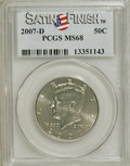 Kennedy Half Dollars, 2007-D 50C Satin Finish MS68 PCGS. PCGS Population (603/0).(#149533)...