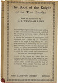 Books:First Editions, G. S. Taylor, editor. The Book of the Knight of LaTour-Landry. London: John Hamilton Ltd., [no date]....