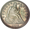 Seated Dollars, 1850 $1 AU58 PCGS....