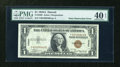 Error Notes:Obstruction Errors, Fr. 2300 $1 1935A Hawaii Silver Certificate. PMG Extremely Fine 40EPQ.. ...