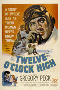 "Movie Posters:War, Twelve O'Clock High (20th Century Fox, 1949). One Sheet (27"" X 41"")...."