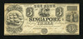 Obsoletes By State:Michigan, Singapore, MI- Bank of Singapore $3 Dec. 30, 1837. ...