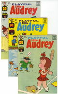 Bronze Age (1970-1979):Humor, Playful Little Audrey File Copies Group (Harvey, 1968-75)Condition: Average NM-.... (Total: 16 Comic Books)
