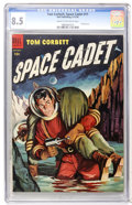 Golden Age (1938-1955):Science Fiction, Tom Corbett Space Cadet #11 (Dell, 1954) CGC VF+ 8.5 Cream tooff-white pages....