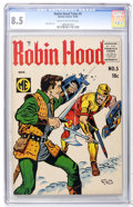 Silver Age (1956-1969):Adventure, Robin Hood Tales #5 (Quality, 1956) CGC VF+ 8.5 Cream to off-white pages....
