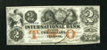 Canadian Currency: , Toronto, CW- International Bank $2 September 15, 1858380-10-10-16a. ...