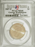 Presidential Dollars, 2007-P $1 George Washington Satin Finish Pos A MS68 PCGS. PCGS Population (356/19). (#390546)...