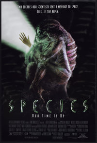 """Species (MGM, 1995). One Sheet (27"""" X 40"""") DS. Science Fiction"""