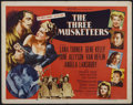 "Movie Posters:Adventure, The Three Musketeers (MGM, R-1956). Half Sheet (22"" X 28"").Adventure...."