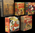 Platinum Age (1897-1937):Miscellaneous, Big Little Book Mickey Mouse Group (Whitman, 1933-37) Condition:Average VG.... (Total: 5 Comic Books)