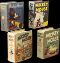 Platinum Age (1897-1937):Miscellaneous, Big Little Books Mickey Mouse Group (Whitman, 1934-40).... (Total:4 Comic Books)