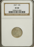 Bust Dimes: , 1827 10C XF40 NGC. NGC Census: (6/212). PCGS Population (14/200). Mintage: 1,300,000. Numismedia Wsl. Price for NGC/PCGS co...