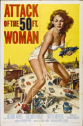 "Movie Posters:Science Fiction, Attack of the 50 Foot Woman (Allied Artists, 1958). One Sheet (27"" X 41"")...."