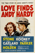 "Movie Posters:Comedy, Love Finds Andy Hardy (MGM, 1938). One Sheet (27"" X 41"") StyleD...."
