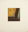 Animation Art:Production Cel, Pinocchio Hand Painted Production Cel and CourvoisierBackground Original Art (Disney, 1939)....