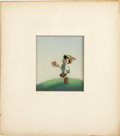 Animation Art:Production Cel, Pinocchio Hand Painted Production Cel and Background Original Art (Disney, 1939)....