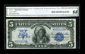 Large Size:Silver Certificates, Fr. 271 $5 1899 Silver Certificate CGA Gem Uncirculated 68....