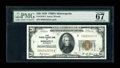 Small Size:Federal Reserve Bank Notes, Fr. 1870-I $20 1929 Federal Reserve Bank Note. PMG Superb Gem Unc 67.. ...