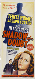 "Movie Posters:Hitchcock, Shadow of a Doubt (Universal, 1943). Australian Daybill (13"" X30"")...."