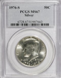 Kennedy Half Dollars: , 1976-S 50C Silver MS67 PCGS. PCGS Population (1438/202). NGCCensus: (142/10). Mintage: 11,000,000. Numismedia Wsl. Price f...