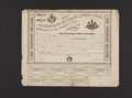 Confederate Notes:Group Lots, Counterfeit Ball Fantasy Cr. XXI Bond $1000 1863 Extremely Fine,edge damage. . ...